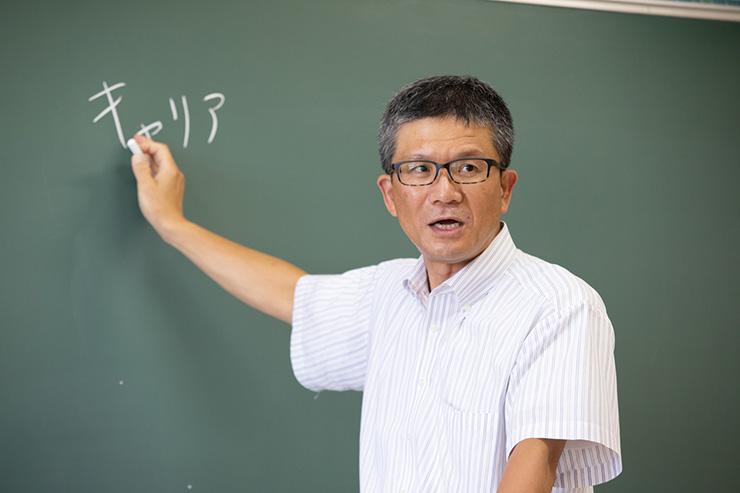 授業中の川澄先生